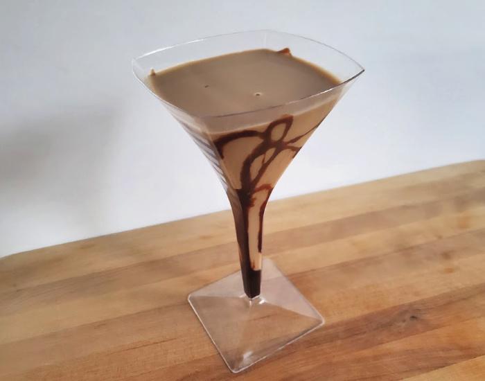 Delicious chocolate martini