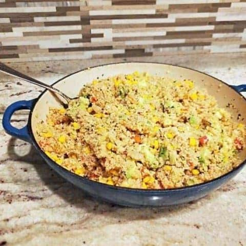 Avocado couscous salad bowl