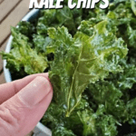 Holding a kale chip