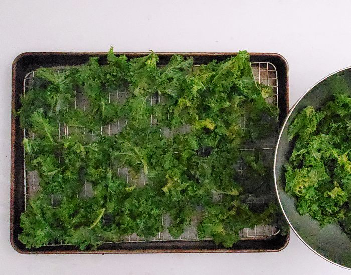 Add kale to pan in a single layer