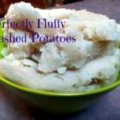Bowl of Mister Man's mashed potatoes