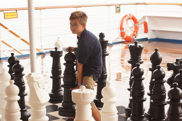 giant chess set aboard the carnival valor