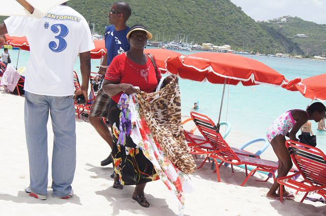 One of the many many vendors on St Maarten's beaches
