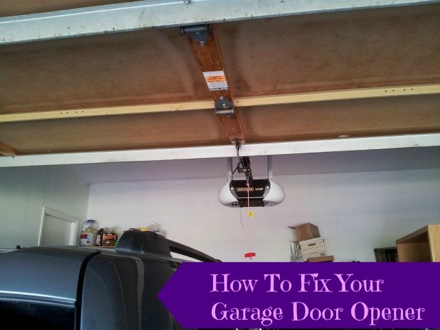 How To Reattach Your Automatic Garage Door Opener Honest And Truly