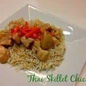 Thai Skillet Chicken recipe on a plate