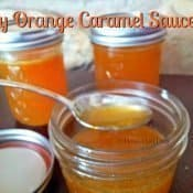 Orange caramel sauce is easy to make and comes together quickly for a unique lighter dessert topping #orange #caramel #dessert #glutenfree