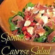 Spinach caprese salad - for when you need something just a little special that tastes amazing and takes 5 minutes to prepare #glutenfree #salad #caprese #italian