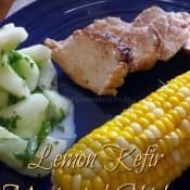 Easy lemon marinated #KefirCreations grilled chicken recipe for a healthy summer dinner. #glutenfree #chicken #grilled