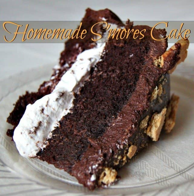 Gorgeous And Easy Homemade Smores Cake