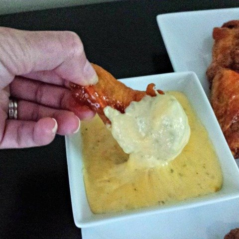 Yummy chicken wings dipping sauces