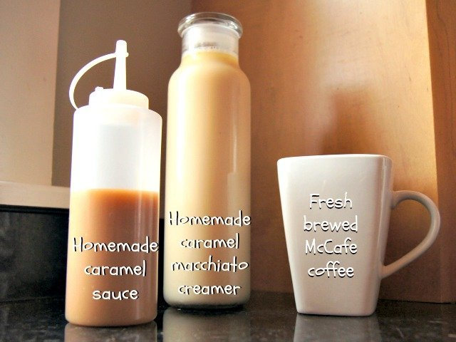 All you need for caramel macchiato at home