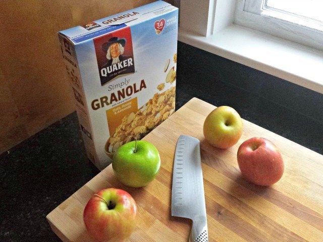 Apples for the apple granola crisp