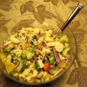 Hearts of palm salad bowl