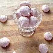 Enjoy some raspberry meringues