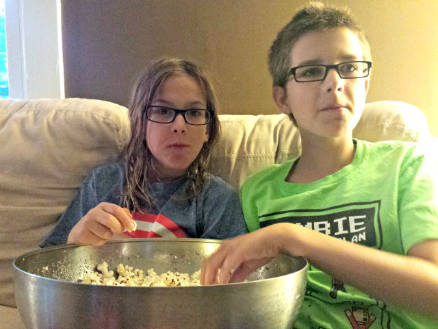 Make a big bowl of popcorn
