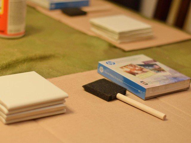 HP Sticky Paper party setup