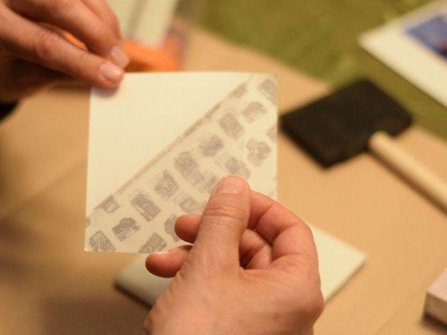 Peel off sticky paper film