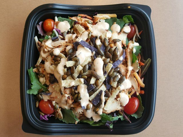 zaxbys grilled chicken salad with ranch calories