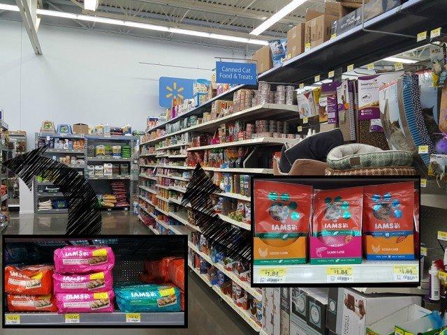 Finding IAMS Cat Treats at Walmart