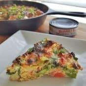 Slice of nicoise dinner omelet