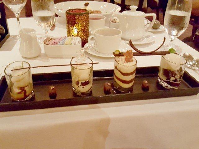 Chocolate sampler dessert Carnival Cruise Steakhouse Dinner
