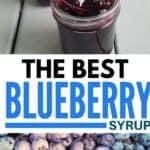 Homemade Blueberry syrup jar