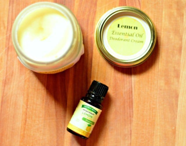 This homemade deodorant smells great thanks to the essential oils, and it truly works. My daughter has the stench of a full grown man without deodorant.