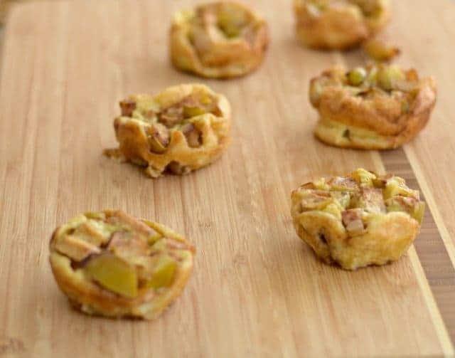 Easy and quick breakfast mini apple pancakes recipe