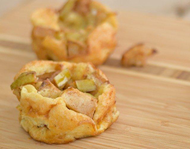 Twist on breakfast with these mini apple pancakes