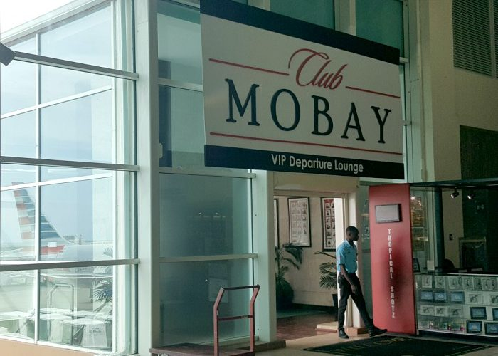 Club Mobay Departure Lounge entrance