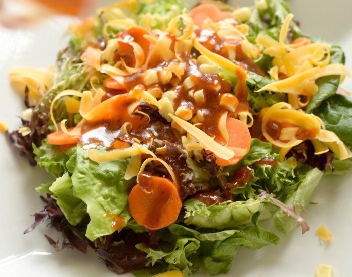 delicious weeknight dinner with homemade bbq sauce vinaigrette