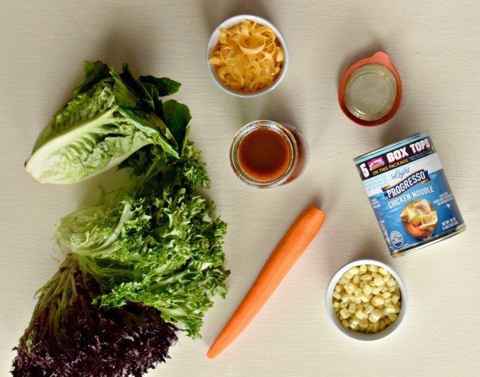 Enjoy an easy dinner with homemade bbq vinaigrette salad dressing