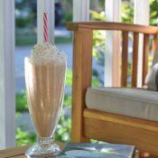 Cake Batter Frappe on a peaceful summer morning