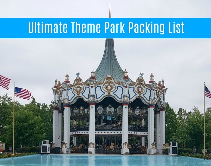 theme park packing checklist printable