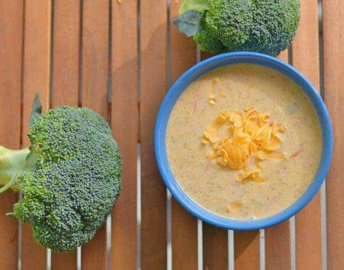 Bowl in Instant Pot broccoli cheddar soup
