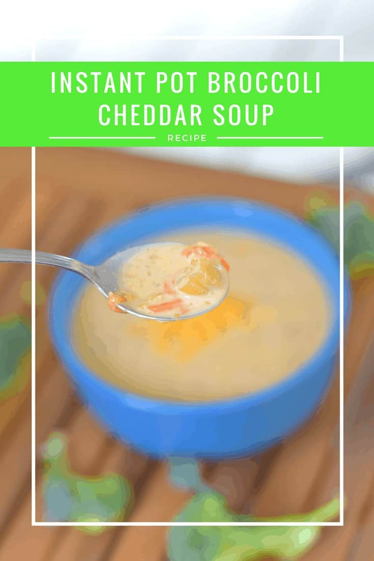 Easy gluten free Instant Pot broccoli cheddar soup recipe #instantpot #soup #glutenfree #broccoli