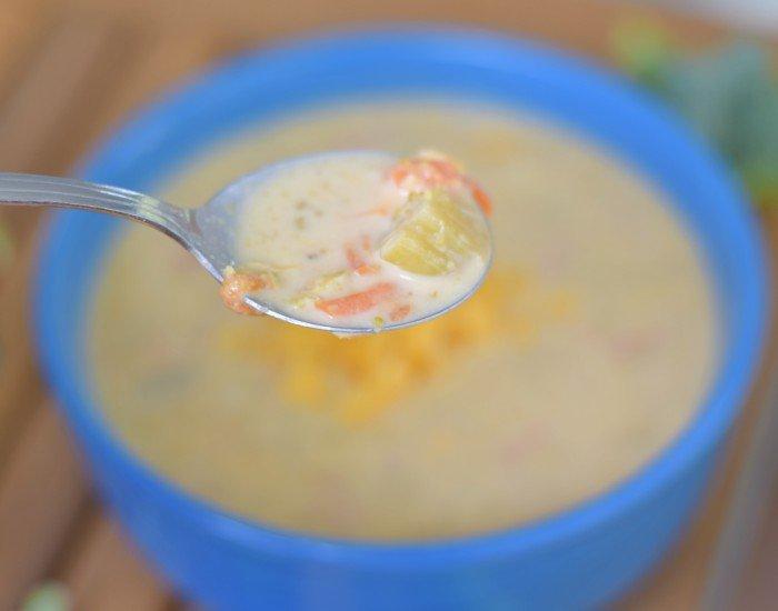Weeknight broccoli cheddar soup recipe