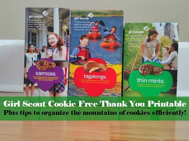 picture about Girl Scout Cookie Thank You Note Printable named Preparing Lady Scout Cookie Orders: In addition Thank By yourself