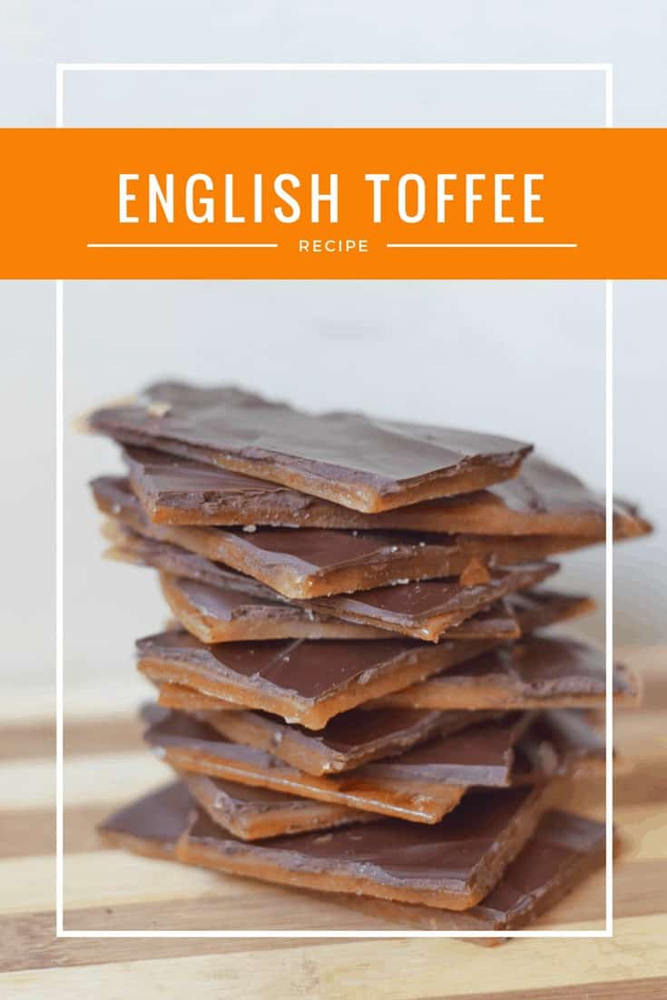 Homemade English Toffee Recipe - naturally gluten free and nut free dessert #toffee #glutenfree #candy #homemade