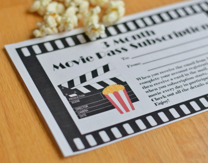 Gifting Movie Pass This Year? Free Gift Certificate Printable ...