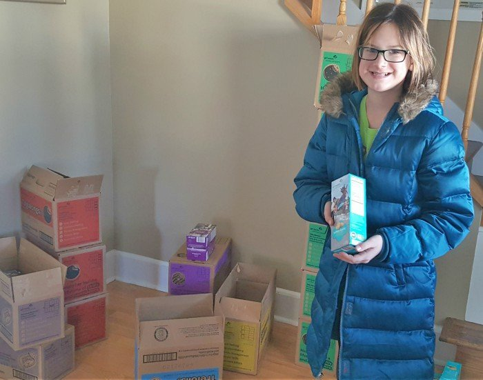 Organize sales with Girl Scout Cookies thank you printable