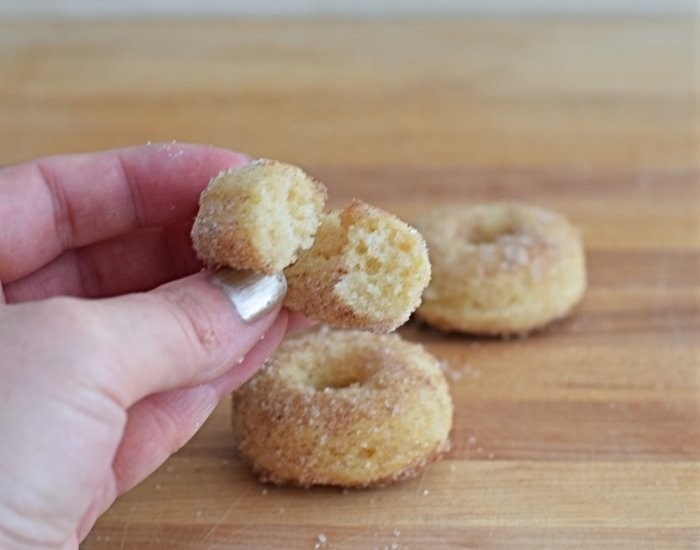 These cinnamon sugar donuts have a little tang to them from the cream cheese I add. I use just a little bit – enough to give it a little flavor without ...