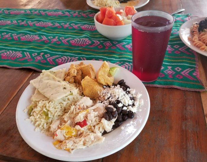 Rio Secreto lunch buffet plate