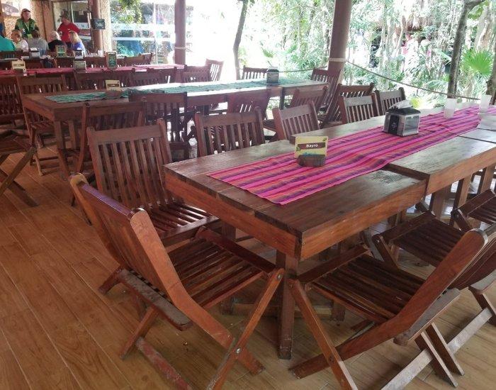 Rio Secreto lunch seating