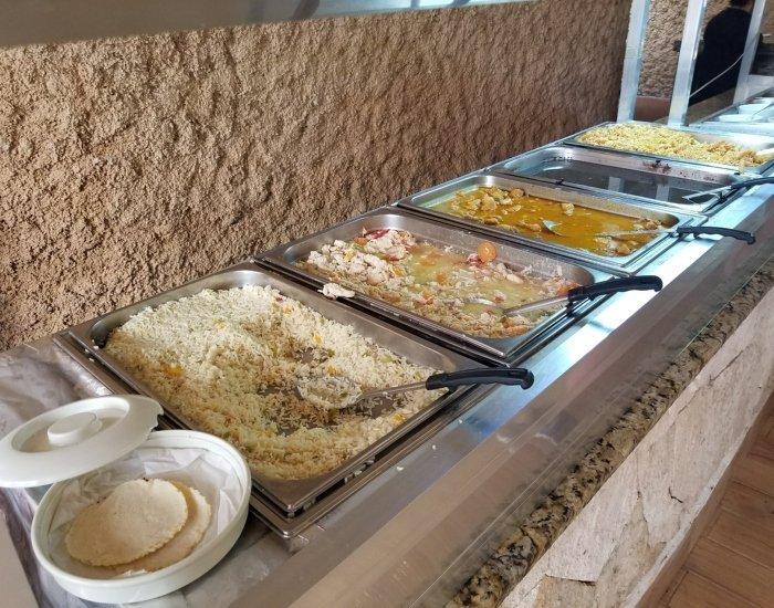 Secret River lunch buffet choices