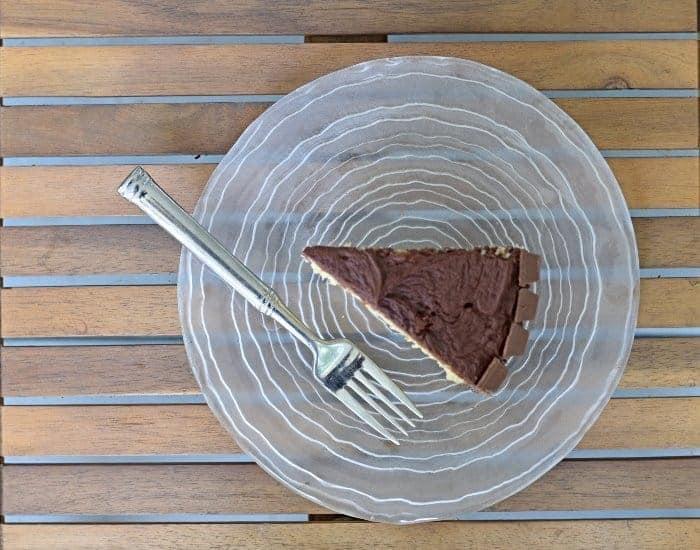 Delicious slice of kit kat cake