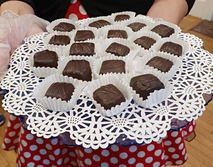 Chocolate samples at Wilburs