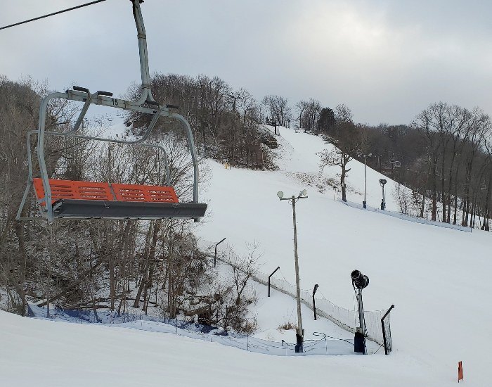 Chair lift at Chestnut Mountain