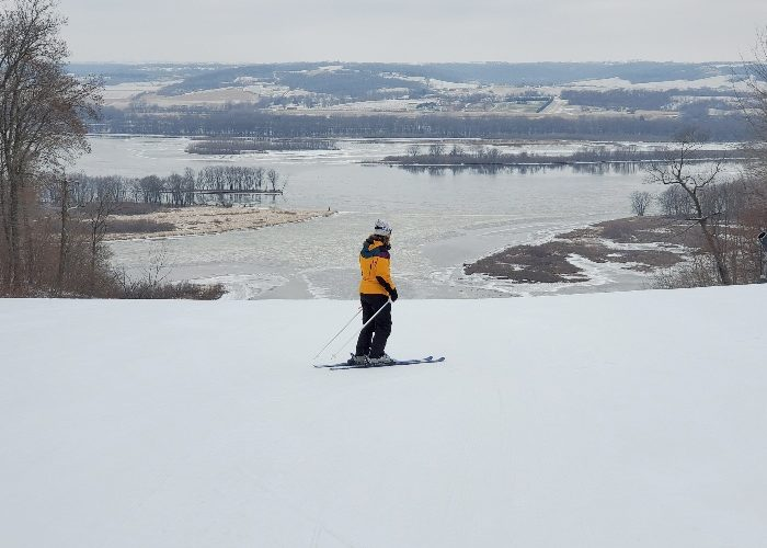 Top of Chestnut Mountain ski hill