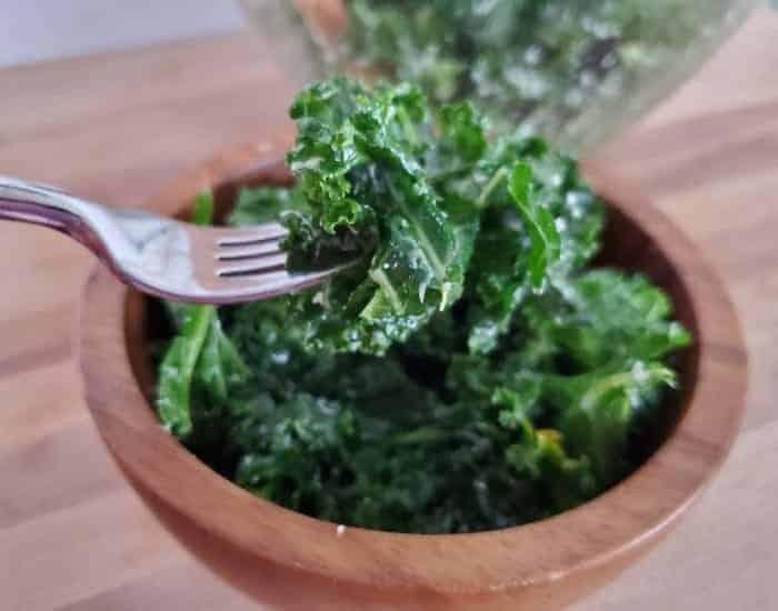 Bite of kale salad